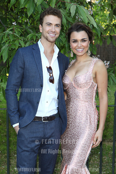Samantha Barks and Richard Fleeshman arriving for the Serpentine Summer Party, at the Serpentine Gallery, Hyde Park, London. 01/07/2014 Picture by: Alexandra Glen / Featureflash