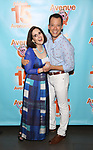 Stephanie D'abruzzo and John Tartaglia attends the 'Avenue Q' - 15th Anniversary Performance Celebration at Novotel on July 31, 2018 in New York City.