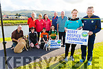 At the launch of the Tony O'Donoghue Memorial Walk's fundraiser in Blennerville on Monday for the Kerry Hospice. The walk takes place on Saturday September 7th.<br /> Front l to r:  Andrea O'Donoghue and Mono Ryle.<br /> Back kneeling l to r: Kevin Boyle, Milly and Mark O'Brien and Ali Lynch. Standing l to r:  Stephen Griffin, Mary O'Donoghue, Bernie Boyle, Tommy and Donal Brosnan.