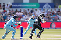 Tom Latham (New Zealand) pushes into the on side for a single during England vs New Zealand, ICC World Cup Cricket at The Riverside Ground on 3rd July 2019