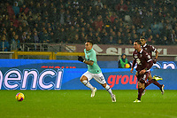 23rd November 2019; Olympic Grande Torino Stadium, Turin, Piedmont, Italy; Serie A Football, Torino versus Inter Milan; in a fast counter attack, Lautaro Martinez of Inter Milan runs through to score the goal for 0-1 for Inter in the 12th minute - Editorial Use