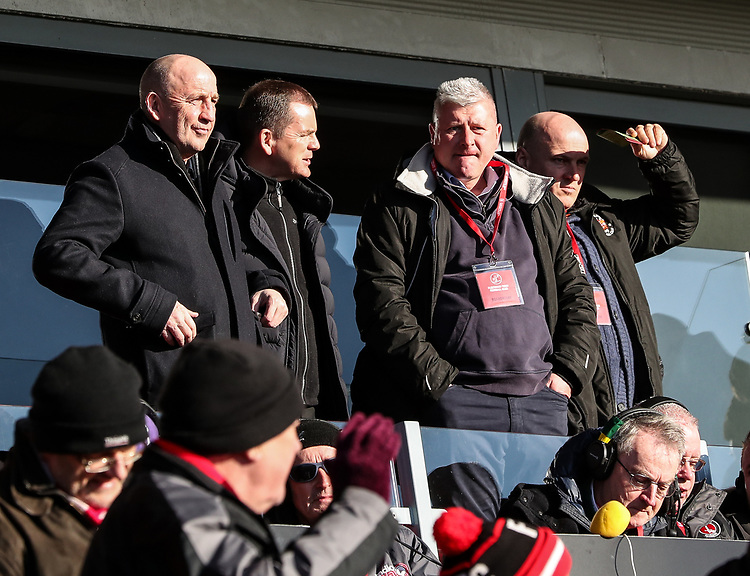 Blackpool manager Terry McPhillips pictured at the Highbury stadium after his team's fixture at Accrington Stanley had earlier been postponed<br /> <br /> Photographer Andrew Kearns/CameraSport<br /> <br /> The EFL Sky Bet League One - Fleetwood Town v Charlton Athletic - Saturday 2nd February 2019 - Highbury Stadium - Fleetwood<br /> <br /> World Copyright © 2019 CameraSport. All rights reserved. 43 Linden Ave. Countesthorpe. Leicester. England. LE8 5PG - Tel: +44 (0) 116 277 4147 - admin@camerasport.com - www.camerasport.com