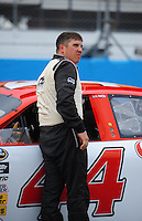 Apr 16, 2009; Avondale, AZ, USA; NASCAR Camping World Series West driver Travis Bennett prior to the Jimmie Johnson Foundation 150 at Phoenix International Raceway. Mandatory Credit: Mark J. Rebilas-