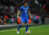 27th March 2018, Wembley Stadium, London, England; International Football Friendly, England versus Italy; Davide Zappacosta of Italy on the ball