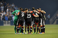 D.C Utd players in huddle prior to start of the game..Sporting Kansas City defeated D.C Utd 1-0 at Sporting Park, Kansas City, Kansas.