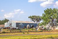 Windmill Garden East of Erick Oklahoma on Route 66.