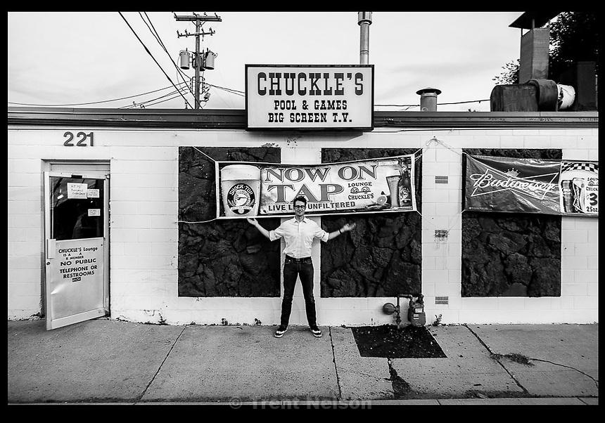 erik daenitz, chuckle's lounge, Thursday June 4, 2015.