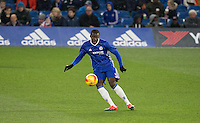 Kurt Zouma of Chelsea plays a pass during the The Checkatrade Trophy match between Chelsea U23 and Oxford United at Stamford Bridge, London, England on 8 November 2016. Photo by Andy Rowland.