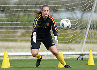 20180304 - LARNACA , CYPRUS :  Belgian Diede Lemey pictured during a Matchday -1 training from The Belgian Red Flames prior to their game against Austria , on Sunday 4 March 2018 at the Alpha Sports Grounds in Larnaca , Cyprus . This will be the third game in group B for Belgium during the Cyprus Womens Cup , a prestigious women soccer tournament as a preparation on the World Cup 2019 qualification duels. PHOTO SPORTPIX.BE | DAVID CATRY
