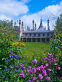 ENGLAND, Brighton, the Royal Pavillon with Flowers