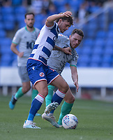 Reading's John Swift (left) battles for possession with Blackburn Rovers' Corry Evans (right)<br /> <br /> Photographer David Horton/CameraSport<br /> <br /> The EFL Sky Bet Championship - Reading v Blackburn Rovers - Saturday 21st September 2019 - Madejski Stadium - Reading<br /> <br /> World Copyright © 2019 CameraSport. All rights reserved. 43 Linden Ave. Countesthorpe. Leicester. England. LE8 5PG - Tel: +44 (0) 116 277 4147 - admin@camerasport.com - www.camerasport.com