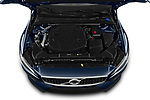 Car Stock 2019 Volvo V60-Crosscountry - 5 Door Wagon Engine  high angle detail view