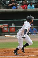 Charleston Riverdogs center fielder Mason Williams #9 at bat during a game against the Savannah Sand Gnats at Joseph P. Riley Jr. Park on May 16, 2012 in Charleston, South Carolina. Charleston defeated Savannah by the score of 14-5. (Robert Gurganus/Four Seam Images)