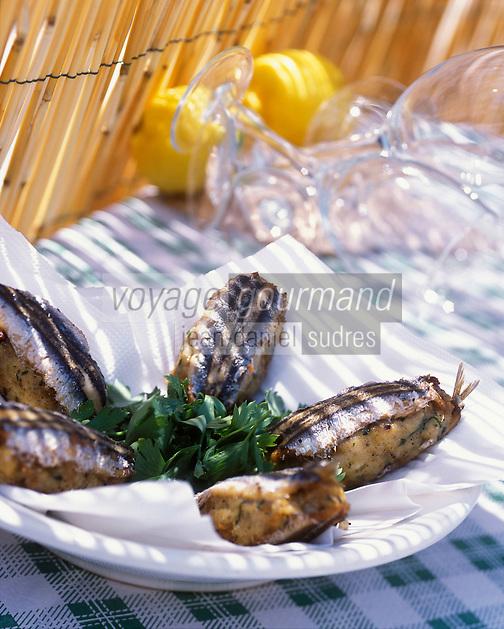 """Europe/Italie/Calabre/San Nicolo Di Ricadi : Alici Ripiene - Anchois farcis - Recette du restaurant """"Da Pipino Il Pescatore"""" - Stylisme : Valérie LHOMME"""