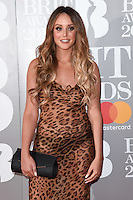 Charlotte Crosby at the 2017 Brit Awards at the O2 Arena in London, UK. <br /> 22 February  2017<br /> Picture: Steve Vas/Featureflash/SilverHub 0208 004 5359 sales@silverhubmedia.com