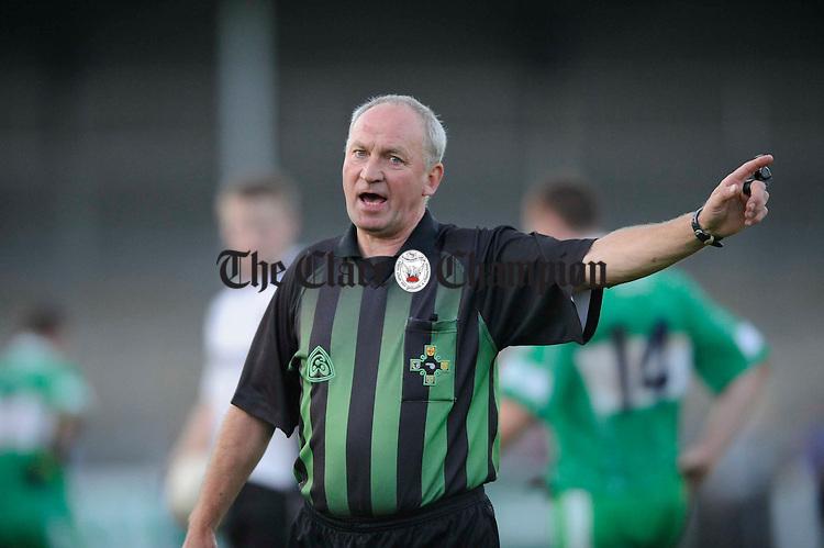 referee Michael Fitzgerald