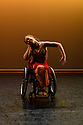 Step Change Studios present their ballroom show Fusion, at Sadler's Wells' Lilian Baylis Studio. Fusion is the UK's first inclusive Latin and ballroom dance showcase by disabled and non-disabled artists, drawing on different dance influences such as swing and contemporary to develop original pieces inspired by Latin and ballroom. Picture shows: RUMBA SOLO created by Ivana Ostrowski and performed by Amy Trigg.