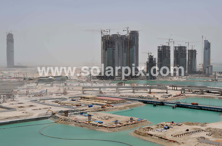 **ALL ROUND PICTURES FROM SOLARPIX.COM**.**WORLDWIDE SYNDICATION RIGHTS**.Reem Island in Abu Dhabi under construction. The island is one of the first free zones in the capital where foreign expats can buy property. Abu Dhabi, Dubai. 1 May 2009..This pic: Reem Island in Abu Dhabi..JOB REF: 8979 DBL     DATE: 01_05_2009.**MUST CREDIT SOLARPIX.COM OR DOUBLE FEE WILL BE CHARGED**.**ONLINE USAGE FEE GBP 50.00 PER PICTURE - NOTIFICATION OF USAGE TO PHOTO @ SOLARPIX.COM**.**CALL SOLARPIX : +34 952 811 768 or LOW RATE FROM UK 0844 617 7637**