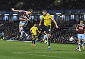 19/04/2016 Sky Bet League Championship  Burnley v Middlesbrough<br /> Ashley Barnes heads macross goal