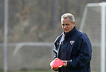 08 December 2005: Southern Methodist head coach Schellas Hyndman during a team practice at SAS Stadium in Cary, North Carolina in preparation for the NCAA Men's Division I College Cup semifinals to be played the following day.