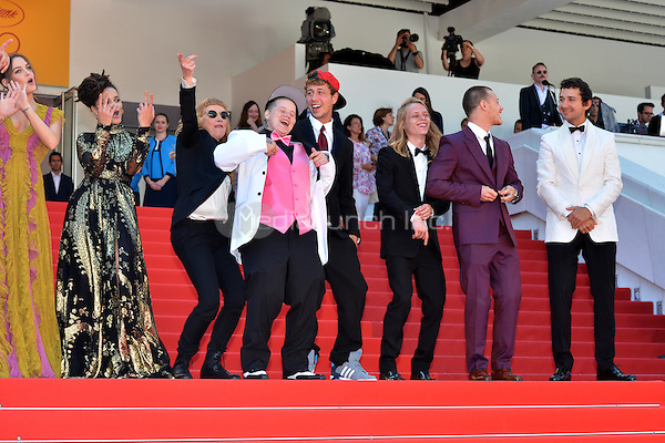 Riley Keough, Sasha Lane, director Andrea Arnold, Veronica Ezell, Raymond Coalson, Isaiah Stone, McCaul Lombardi and Shia LaBeouf  at the &acute;American Honey` screening during The 69th Annual Cannes Film Festival on May 15, 2016 in Cannes, France.<br /> CAP/LAF<br /> &copy;Lafitte/Capital Pictures /MediaPunch ***NORTH AND SOUTH AMERICA ONLY***