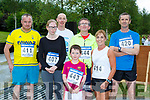 Neilus Moynihan Rathmore, Miriam McCarthy Boherbue, Philip Gammell Killarney, Alex and Patrick Hickey Knocknagree, Jerome Foley Firies and Deirdre Sheahan Millstreet at the Gneeveguilla AC I mile road race series in Barradubh on Friday evening