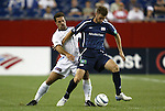 04 September 2004: Troy Dayak (left) and Pat Noonan (right) during the second half. The San Jose Earthquakes defeated the New England Revolution 1-0 at Gillette Stadium in Foxboro, MA during a regular season Major League Soccer game..