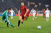 5th December 2017, Stadio Olimpic, Rome, Italy; UEFA Champions league football, AS Roma versus Qarabağ FK; Edin Dzeko gets past the Qarabag keeper