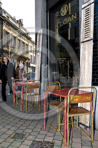 BRUSSELS - BELGIUM - 07 JANUARY 2012 -- Marolles the bohemian city part of Brussels. -- K. Loan decoration and furniture shop on  Rue Blaes. -- PHOTO: Juha ROININEN /  EUP-IMAGES