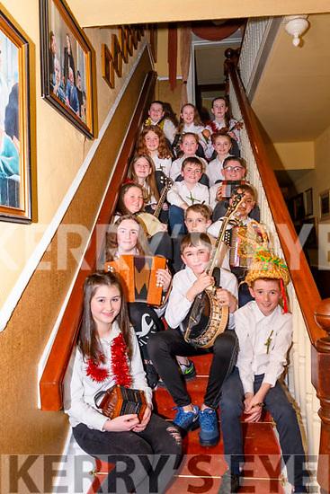Braving the wind & rain of Storm Ciara the Glenbeigh Falcons Biddys came out to The Towers Hotel, Glenbeigh to entertain with their traditional music and dance<br /> Front Aideen O'Sullivan<br /> 2nd row Orlaith Burke, Tadgh O'Sullivan, Aidan Sheehan.<br /> 3rd row Mary Kate Smith, Paddy O'Sullivan, Dara O'Connor<br /> 4th row Aoibheann O'Donovan, Rob Baggett, Rhys Murphy<br /> 5th row Emily O'Sullivan, Amy O'Shea, Nikita Teahan<br /> 6th row Aela Murphy, Siofra Griffin, Naoise Burke