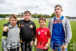 Pictured at the National U17 Kerry v Galway United, SSE Airtricity Soccer League at Mounthawk Park Tralee, on Sunday were Kerry fans, l-r: Jamie O'Shea, Declan Lacey, Andrew Kerins and Derek O'Shea,
