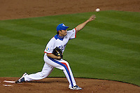 23 March 2009: #51 Jungkeun Bong of Korea pitches against Japan during the 2009 World Baseball Classic final game at Dodger Stadium in Los Angeles, California, USA. Japan defeated Korea 5-3