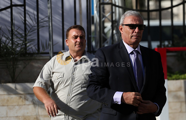 Palestinian Deputy Prime Minister Ziad Abu Amr arrives before a reconciliation cabinet meeting in Gaza City on October 3, 2017. The Palestinian reconciliation government met in Gaza for the first time since 2014 as moves intensifies to end the decision-old rift between the main political factions. Photo by Mohammed Asad