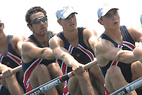 Beijing, CHINA, USA JM8+, bow, Micheal GENNARO, Christopher LUTZ, Ian WINTHROP, Nareg GUREGIUN, Theodore LAHER, Nicholas JORDEN, Christopher BOWMAN, Ian SILVEIRA and Anatony ALTIMARI, during the  2007. FISA Junior World Rowing Championships Shunyi Water Sports Complex. Wed. 08.08.2007  [Photo, Peter Spurrier/Intersport-images]..... , Rowing Course, Shun Yi Water Complex, Beijing, CHINA,