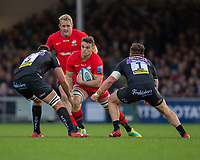 Saracens' Ben Earl in action during todays match<br /> <br /> Photographer Bob Bradford/CameraSport<br /> <br /> Gallagher Premiership Round 10 - Exeter Chiefs v Saracens - Saturday 22nd December 2018 - Sandy Park - Exeter<br /> <br /> World Copyright © 2018 CameraSport. All rights reserved. 43 Linden Ave. Countesthorpe. Leicester. England. LE8 5PG - Tel: +44 (0) 116 277 4147 - admin@camerasport.com - www.camerasport.com