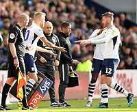 Preston North End's Paul Gallagher is replaced during the first half by Jayden Stockley<br /> <br /> Photographer Rich Linley/CameraSport<br /> <br /> The EFL Sky Bet Championship - Preston North End v Blackburn Rovers - Saturday 26th October 2019 - Deepdale Stadium - Preston<br /> <br /> World Copyright © 2019 CameraSport. All rights reserved. 43 Linden Ave. Countesthorpe. Leicester. England. LE8 5PG - Tel: +44 (0) 116 277 4147 - admin@camerasport.com - www.camerasport.com