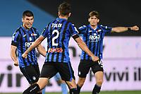 24th June 2020, Bergamo, Italy; Seria A football league, Atalanta versus Lazio;  Goal celebrations from scorer Ruslan Malinovskyi for 2-2 in the 66th minute