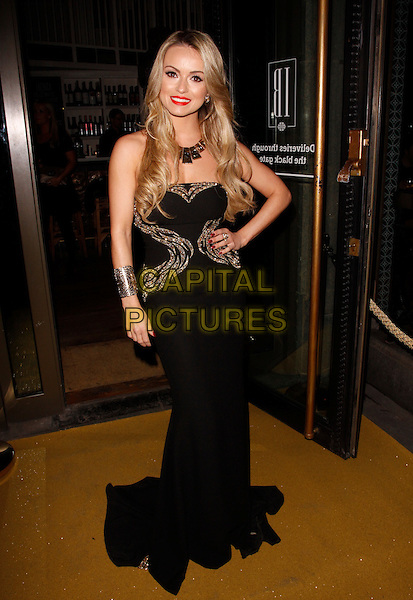 LONDON, ENGLAND - FEBRUARY 27 : Ola Jordan arrives at the Inanch London - launch party at the Iberica Marylebone Restaurant  on February 27, 2014 in London, England.<br /> CAP/AH<br /> &copy;Adam Houghton/Capital Pictures