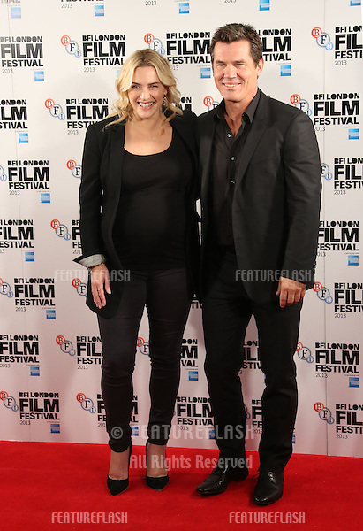 Kate Winslet and Josh Brolin at the BFI London Film Festival 2013 - Labour Day- photocall, London. 14/10/2013 Picture by: Henry Harris / Featureflash
