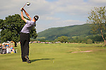 Rhys Davies (WAL) teeing off on the 14th.during the first round of the Saab Wales Open at Celtic Manor 2010 course Newport, Wales. 2/6/11.Picture: Fran Caffrey/ www.golffile.ie .