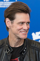 Jim Carrey at the &quot;Jim &amp; Andy: The Great Beyond - The Story Of Jim Carrey &amp; Andy Kaufman With A Very Special, Contractually Obligated Mention Of Tony Clifton&quot; photocall, 74th Venice Film Festival in Italy on 5 September 2017.<br /> <br /> Photo: Kristina Afanasyeva/Featureflash/SilverHub<br /> 0208 004 5359<br /> sales@silverhubmedia.com