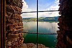 Czorsztyn, 20089-08-27. Widok na Jezioro Czorsztyńskie z zamku w Czorsztynie