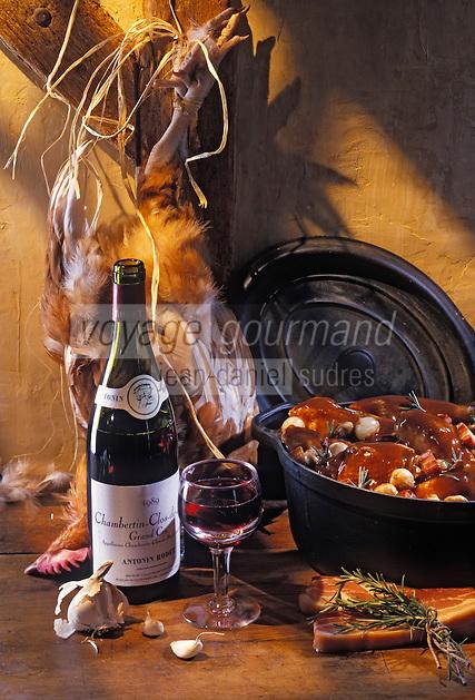 Europe/France/Bourgogne/29/Côte-d'Or: Coq au vin de Bourgogne