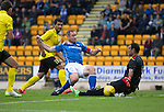 St Johnstone v Alashkert FC...09.07.15   UEFA Europa League Qualifier 2nd Leg<br /> Frazer Wrights shot is blocked by Gevorg Kasparov and falls into the path of Michael O'Halloran who scores<br /> Picture by Graeme Hart.<br /> Copyright Perthshire Picture Agency<br /> Tel: 01738 623350  Mobile: 07990 594431