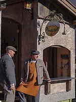 Festwagen beim Aufzug der Masken beim Nassereither Schellerlauf, Fasnacht in Nassereith, Bezirk Imst, Tirol, &Ouml;sterreich, Europa, immaterielles UNESCO Weltkulturerbe<br /> float at Gathering of the masks, Nassereither Schellerlauf-Fasnacht, Nassereith, Tyrol, Austria Europe, Intangible World Heritage