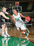 North Texas Mean Green guard Tamara Torru (34) in action during the game between the Troy Trojans and the University of North Texas Mean Green at the North Texas Coliseum,the Super Pit, in Denton, Texas. UNT defeats Troy 57 to 36.....