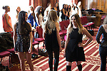 © Joel Goodman - 07973 332324 . 25/04/2015 . Manchester , UK . Rehearsals for hopefuls of this year's Mr and Miss Manchester pageant , at the Palace Hotel , Manchester . Photo credit : Joel Goodman