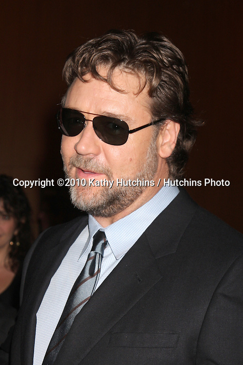 "LOS ANGELES - NOV 16:  Russell Crowe arrives at  ""The Next Three Days"" LA Premiere  at Director's Guild Of America on November 16, 2010 in Los Angeles, CA"