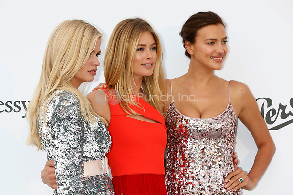 Lara Stone, Doutzen Kroes and Irina Shayk at the amfAR Gala Cannes 2017 at Hotel du Cap-Eden-Roc on May 25, 2017 in Cap d'Antibes, France. Credit: John Rasimus /MediaPunch ***FRANCE, SWEDEN, NORWAY, DENARK, FINLAND, USA, CZECH REPUBLIC, SOUTH AMERICA ONLY***