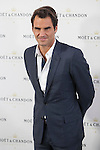 Swiss tennis player Roger Federer poses during Moet & Chandon event in Madrid, Spain. May 05, 2015. (ALTERPHOTOS/Victor Blanco)